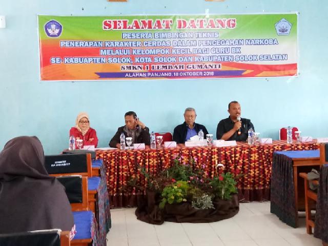 Bimbingan Teknis Penerapan Karakter Cerdas dalam Pencegahan Narkoba se-Kabupaten Solok